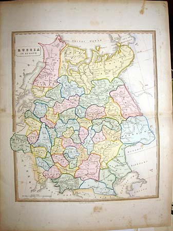 1839 Very Rare Map Allan Bell Russia Must See