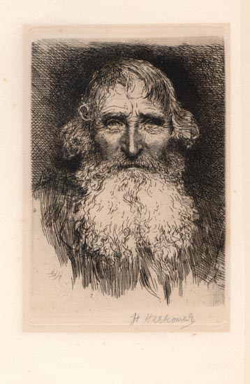 1880 original signed etching by herbert von herkomer