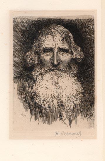 1880 original signed etching by herbert von herkomer