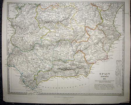 1831 Superb Four Panel Set SDUK Maps Spain